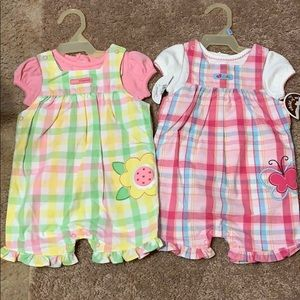 2 Baby girls 2 piece outfits. NWT. Size 3-6 months
